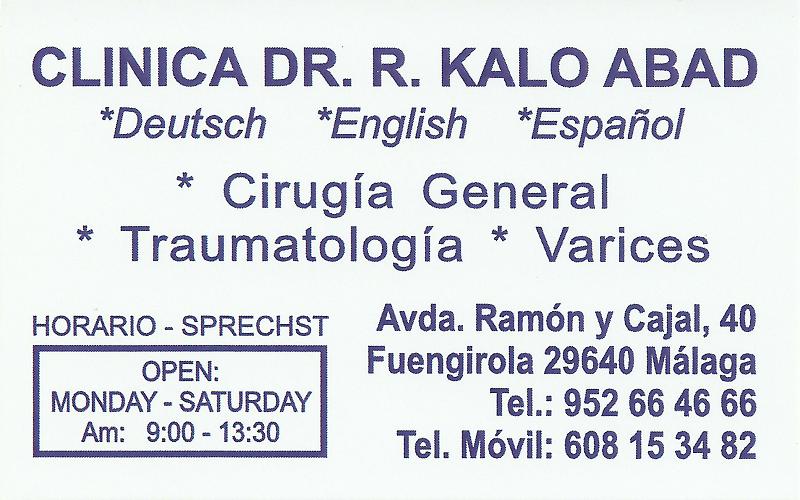 Doctor Kalo Abad in Fuengirola