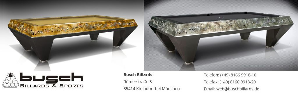 Exclusive Pool Tables from BUSCH BILLARDS